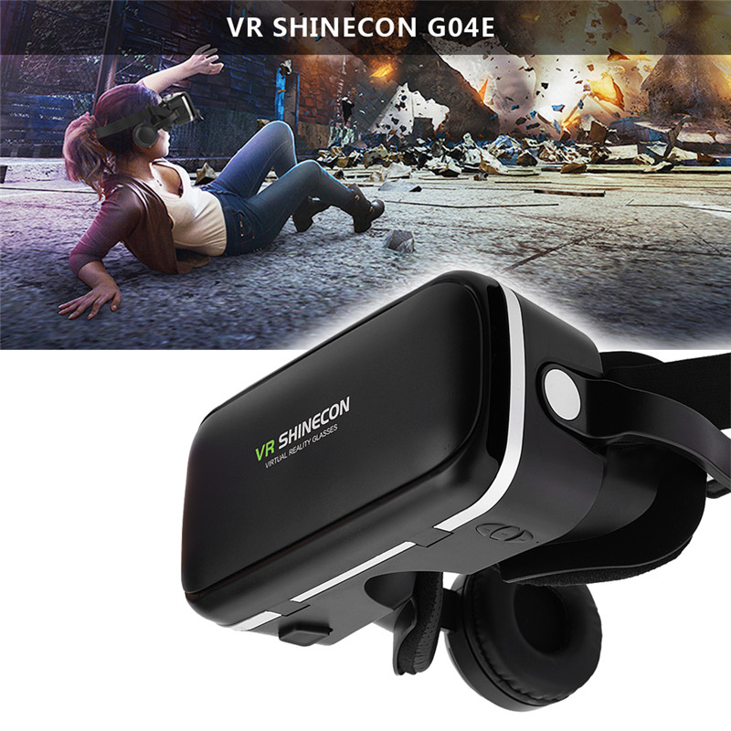 "Virtual Reality Headset For VR SHINECON Virtual Reality 3D VR Glasses w/ Earphone for 3.5""-6.0"" Android iOS Phones Smartphone"