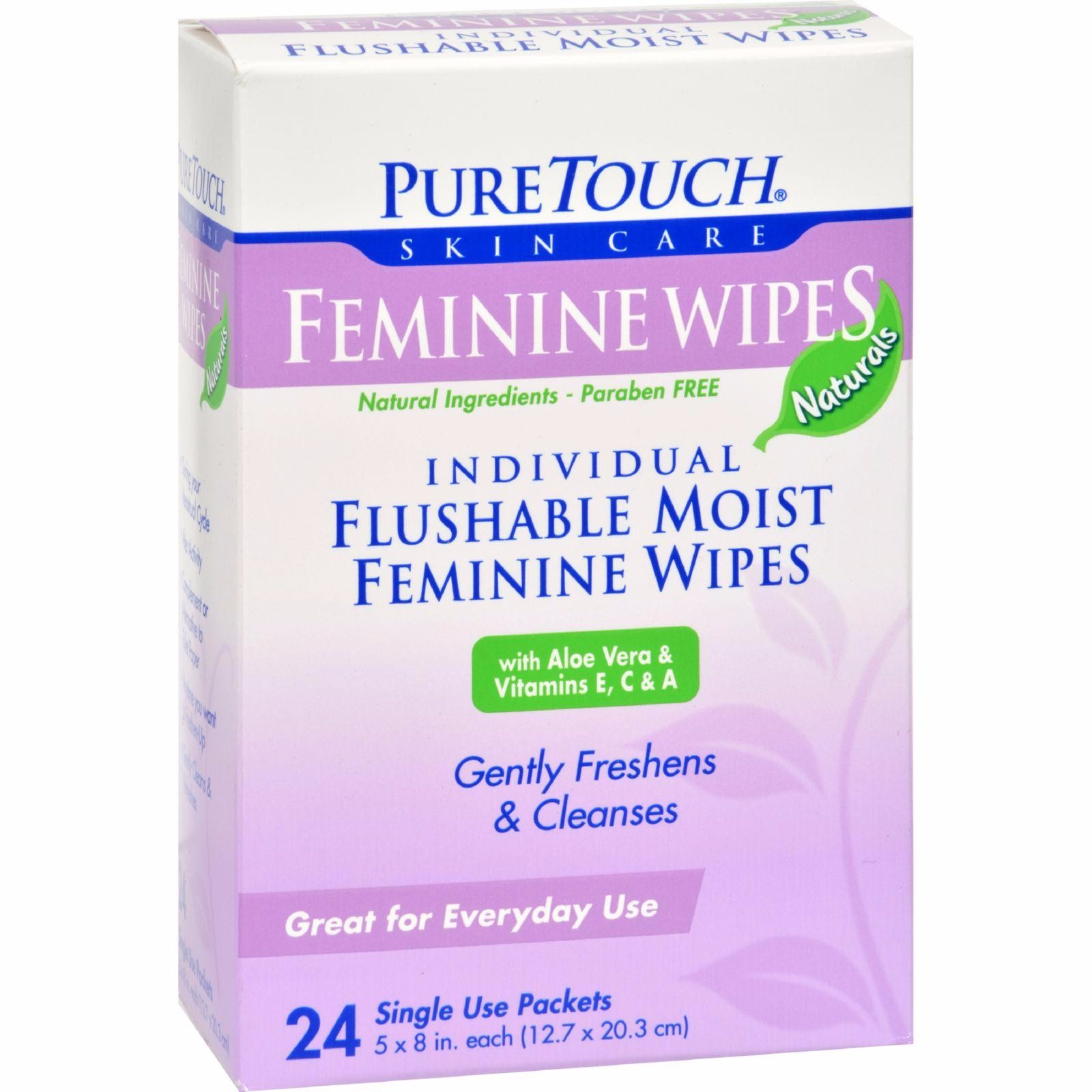 Puretouch Feminine Wipes Flushable - 24 Wipes - image 1 de 1