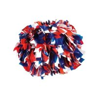ebefea96b4291 Product Image Pizzazz Royal Blue Red White 3 Color Plastic Cheer Single Pom  Pom