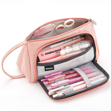 Peroptimist Big Capacity Pencil Pen Case Makeup Bag Travel Case Best College Supplies for Students, Capacity Pencil Pen Case Bag Pouch