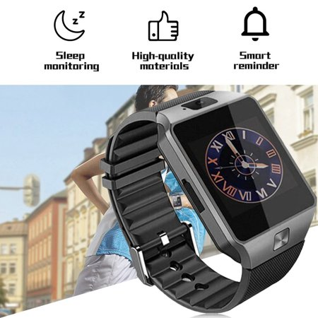DZ09 Intelligent Wristwatch Phone Camera SIM TF GSM Multi Language - image 6 de 8
