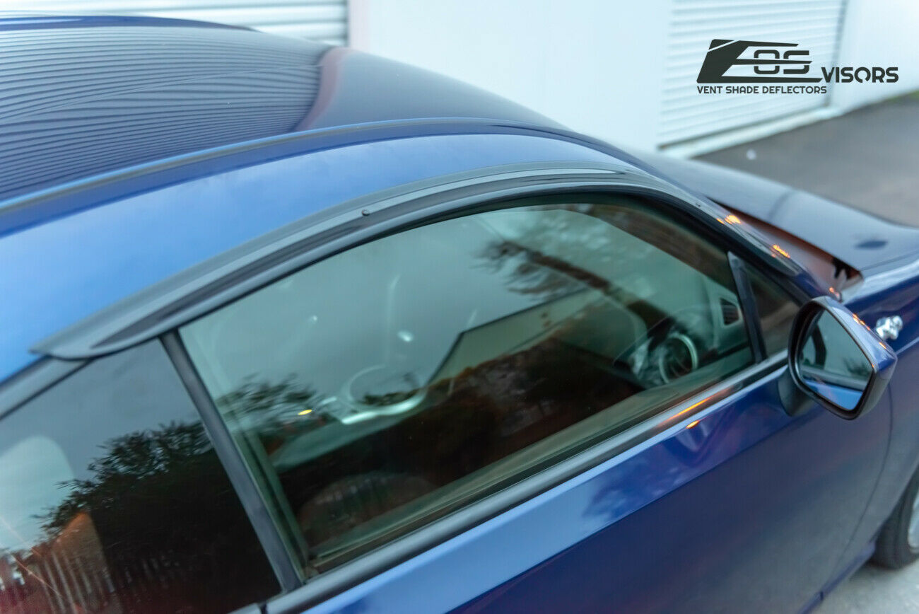 JDM Clip-On Window Visors Rain Guards Shield Deflectors For 13-Up Subaru BRZ FRS