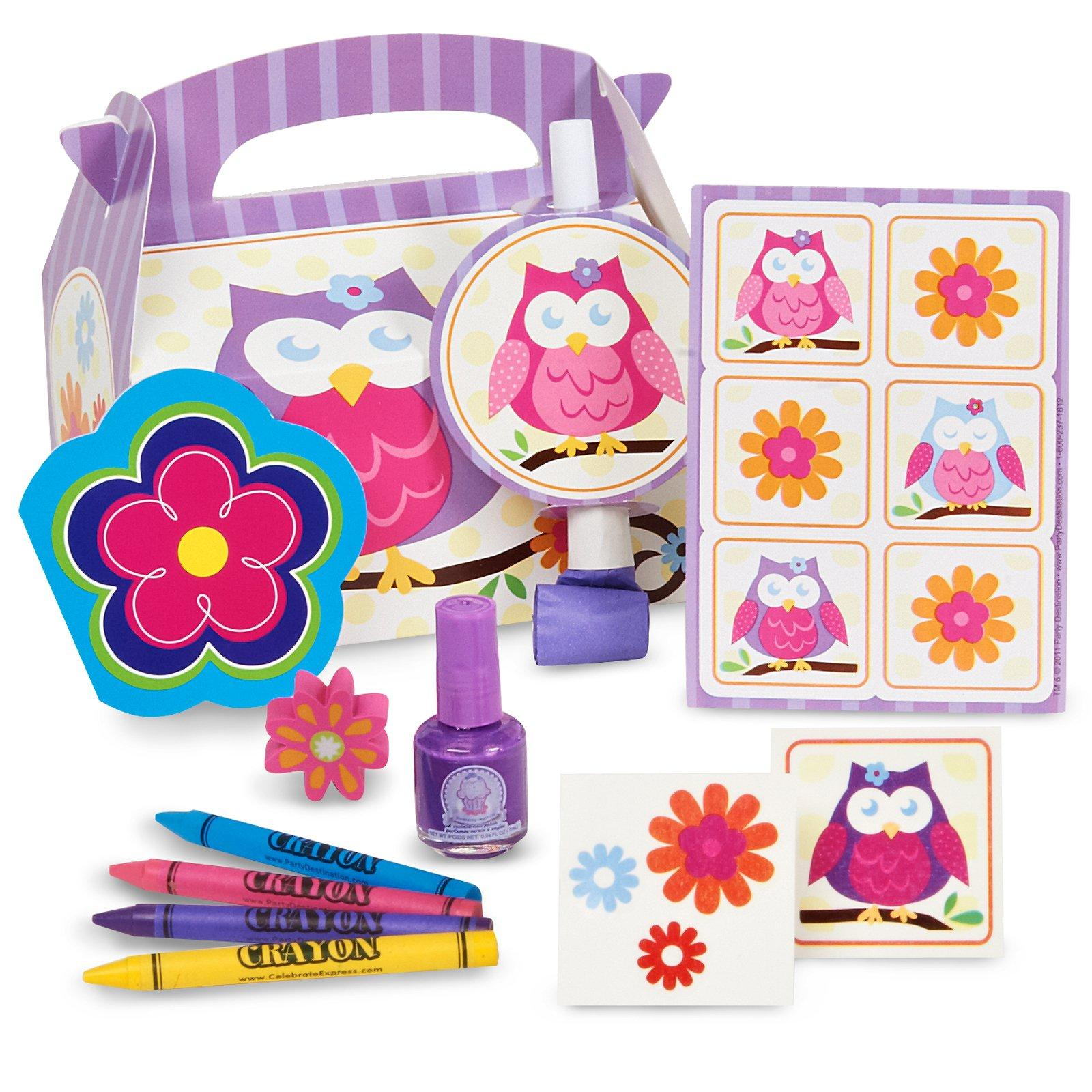 Owl Blossom Party Favor Box