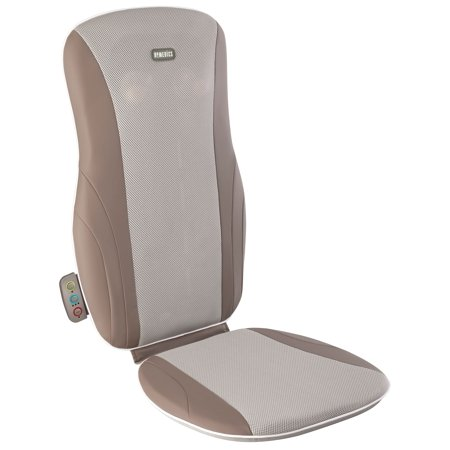 HoMedics Thera-P Shiatsu Deep Kneading Back Massage Cushion with Heat, MCS-125-THP (Back Massager For Chair Homedics)