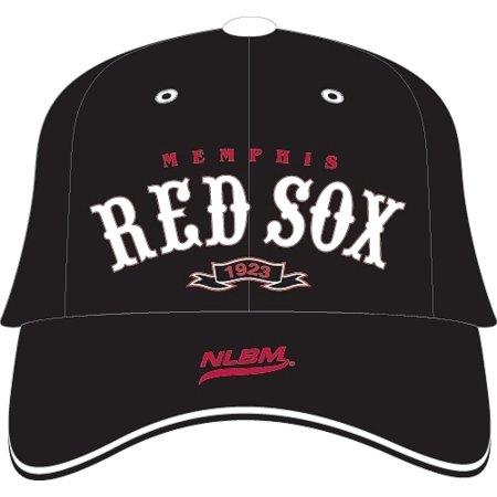 Sox Mens Leather - Big Boy Memphis Red Sox Legends Leather Mens Cap [Black - Adjustable]