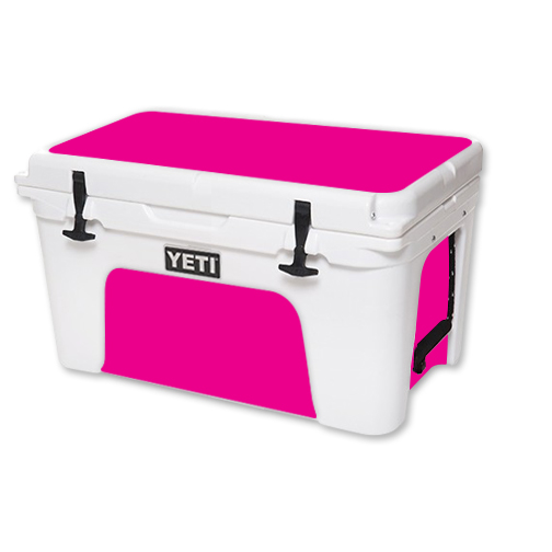 MightySkins Protective Vinyl Skin Decal for YETI Tundra 45 qt Cooler wrap cover sticker skins Solid Hot Pink