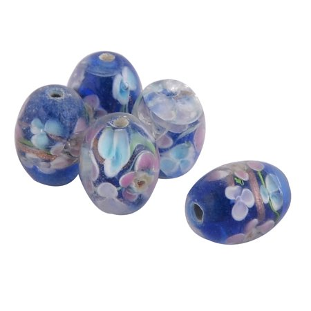 Craft Bead Patterns (Jewelry Making Craft Flowering Pattern Loose Beads DIY Tools 12mm Dia 5pcs )