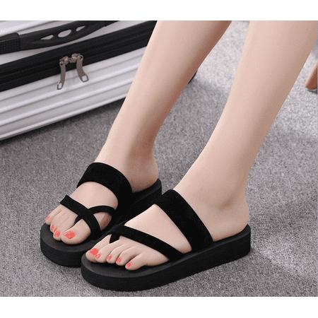 348e4c6d5 Women Fashion Flat Beach Flip-flops Summer Antiskid Cozy Slippers Sandals  Shoes - Walmart.com