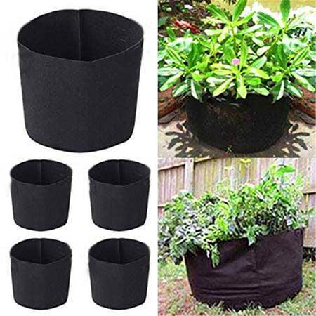 2 Pcs Gallon Potato Grow Bags Aeration Tomato Fabric Plant Pots Garden Bag Planter Vegetable Growing Outdoor 5