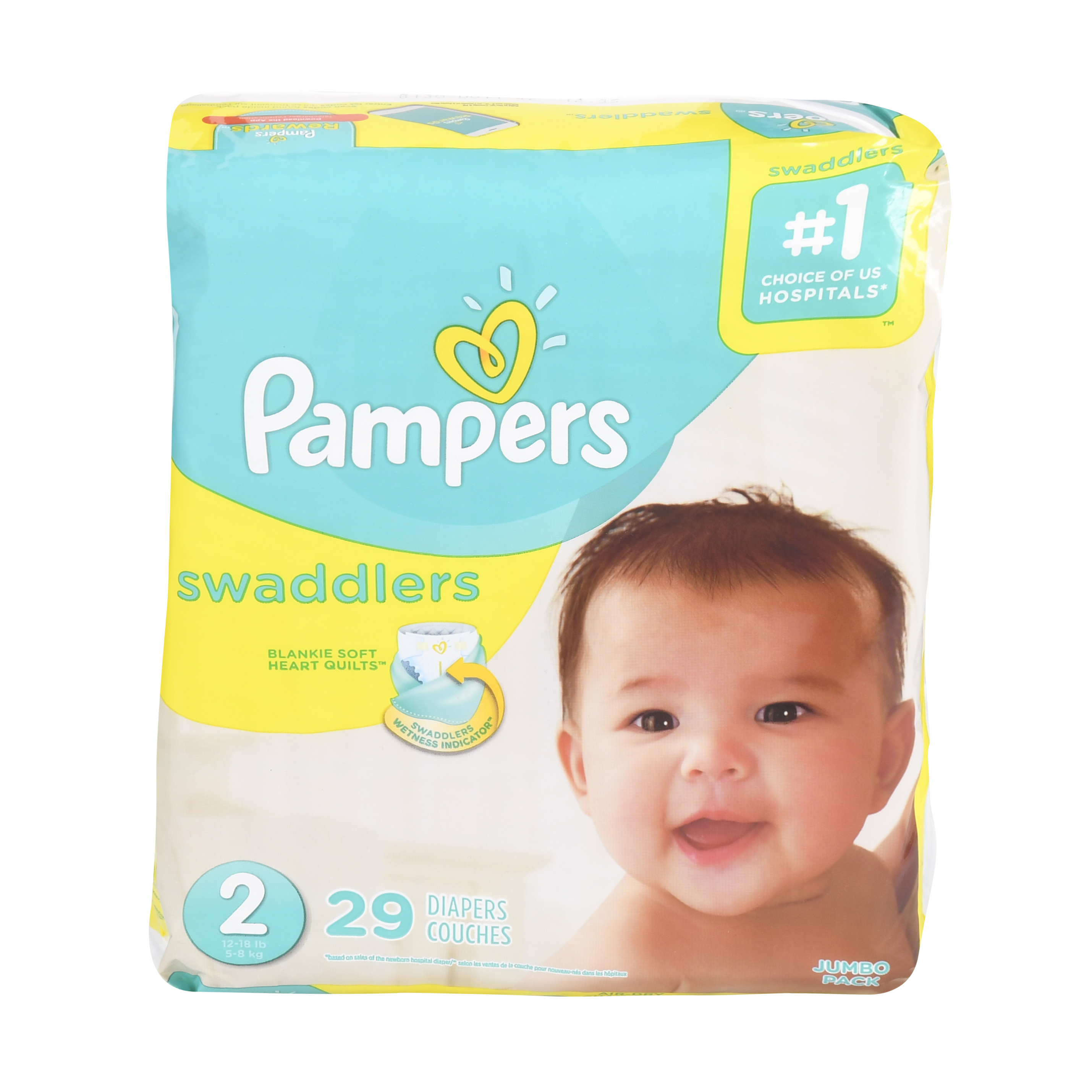 Pampers Swaddlers Size 2 Jumbo Pack 29ct