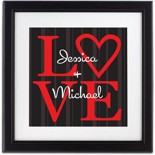 """Personalized """"LOVE"""" Framed Print"""