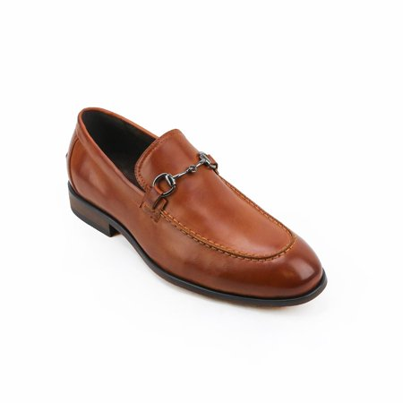 XRAY  Men's Saddle Tan/Black Polyurethane Leather Slip-on Dress Shoes