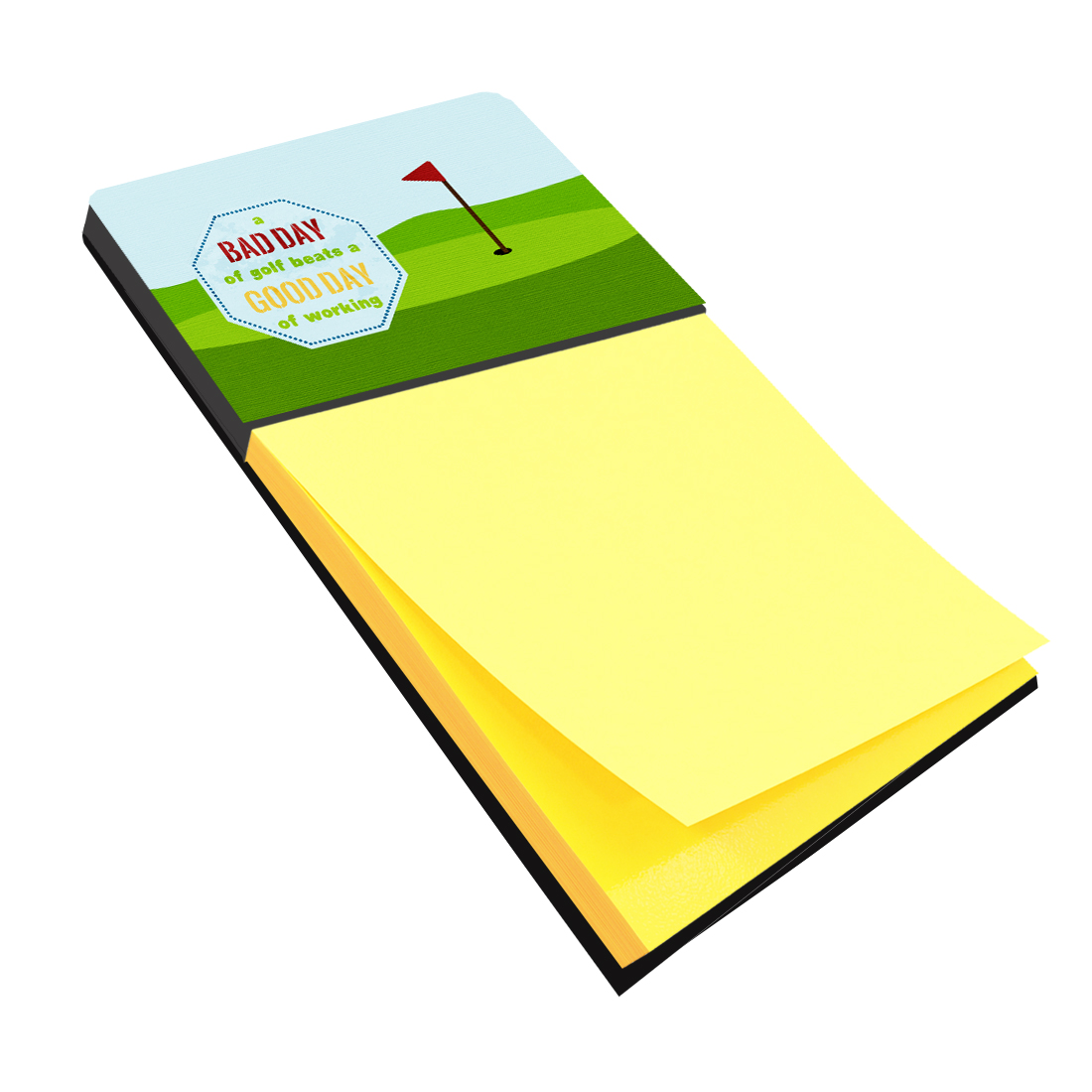 A Bad Day at Golf Refiillable Sticky Note Holder or Postit Note Dispenser SB3091SN