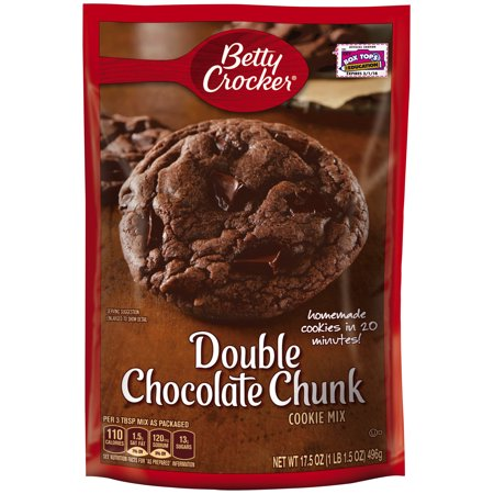 Betty Crocker® Double Chocolate Chunk Cookie Mix 17.5 oz. Pouch ...