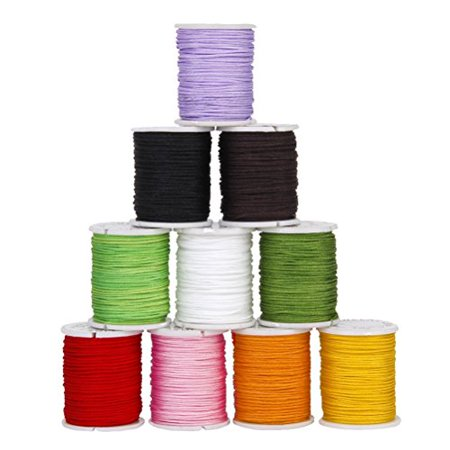 Tinksky 10 Colors 0.8mm Nylon Hand Knitting Cord String Beading Thread for DIY Jewellery