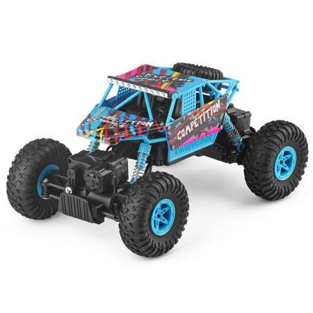 Goplus 1:18 2.4G 4WD RC Off-Road Racing Car Radio Remote Control Rock Crawler Truck RTR (Rtr Racing Truck)