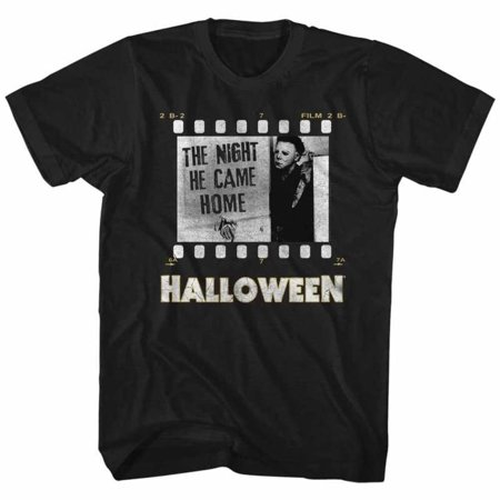Halloween Movies Film Strip Adult Short Sleeve T - Halloween Fim