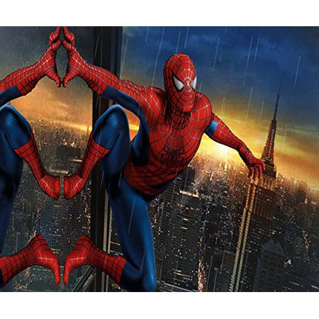 Spiderman Night View Edible Cake Topper Frosting 1/4 Sheet ...