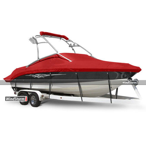 Eevelle WindStorm V-Hull Runabout Inboard Boat Cover with Ski Tower