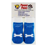 Power Paws, traction socks for dogs, L, Blue w/Bone, Mobility: Freedom and movement for senior dogs. By Woodrow Wear