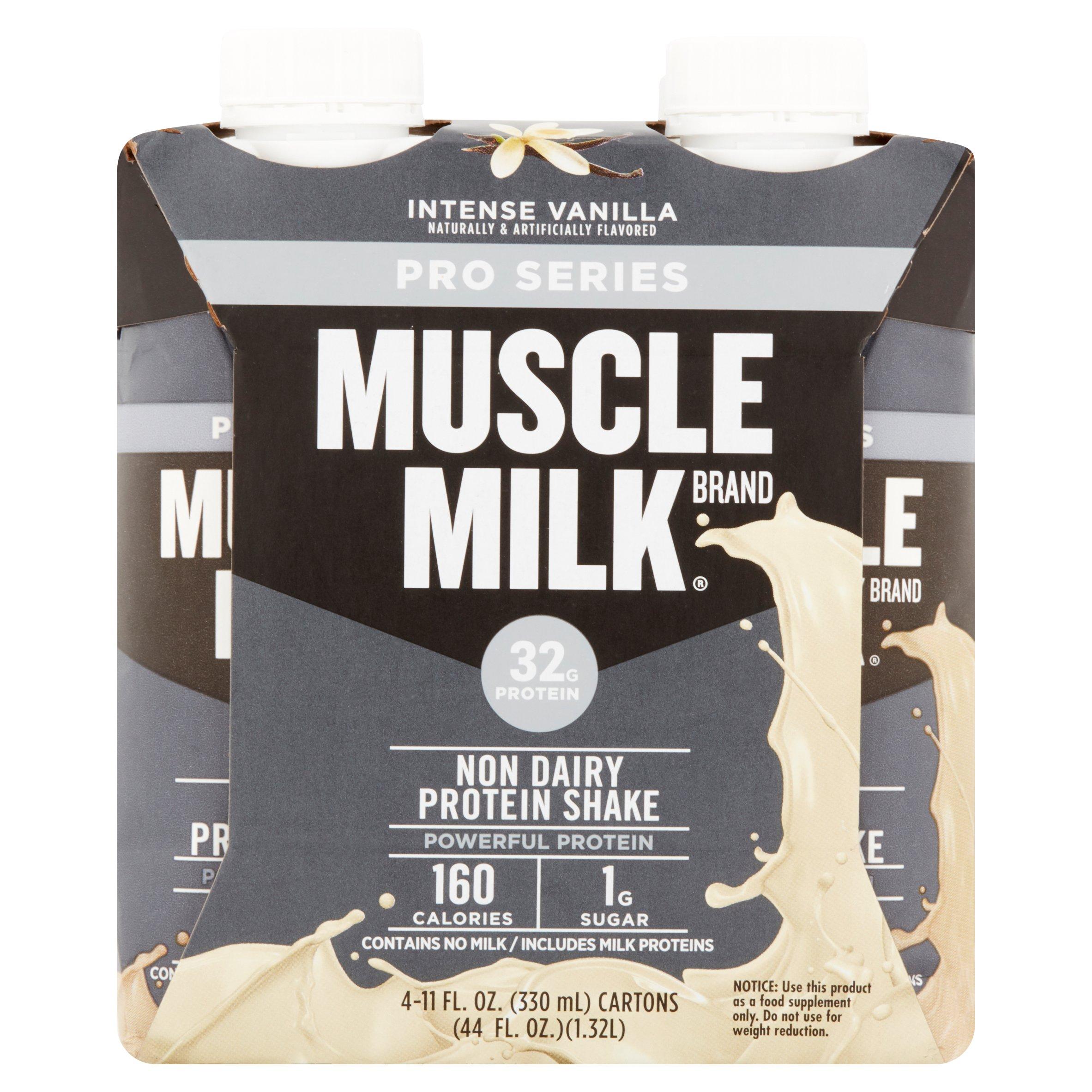 Muscle Milk Pro Series Shake, 32 Grams of Protein, Intense Vanilla, 11 Oz, 4 Ct