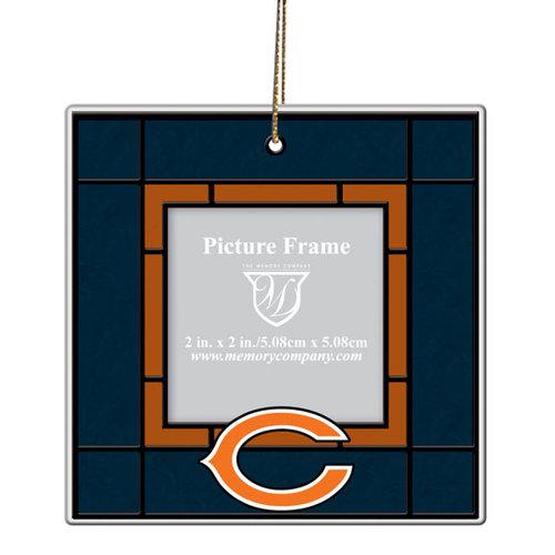NFL - Chicago Bears Art Glass Frame Ornament