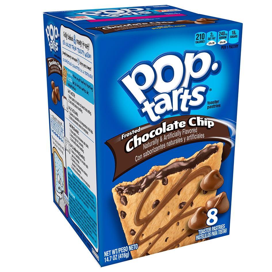 Kellogg's Pop-Tarts, Chocolate Chip, 14.7 oz, 8 ct (Pack of 12)
