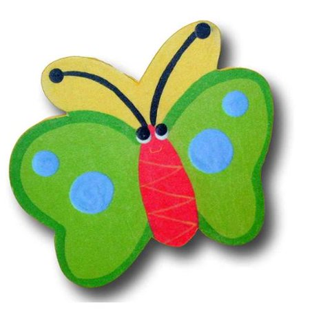 Butterfly Drawer Pulls (Bug Off Green Butterfly Drawer Pulls in Yellow Back (Set of)
