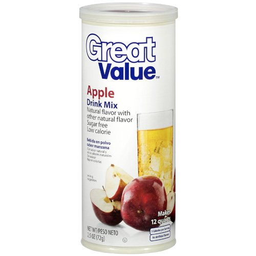 Great Value Apple Drink Mix, 2.5 oz