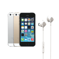 Certified Refurbished Apple iPhone 5S GSM UNLOCKED Gold 16GB - Includes NEW DB1 In-ear Wireless Bluetooth Headphones White