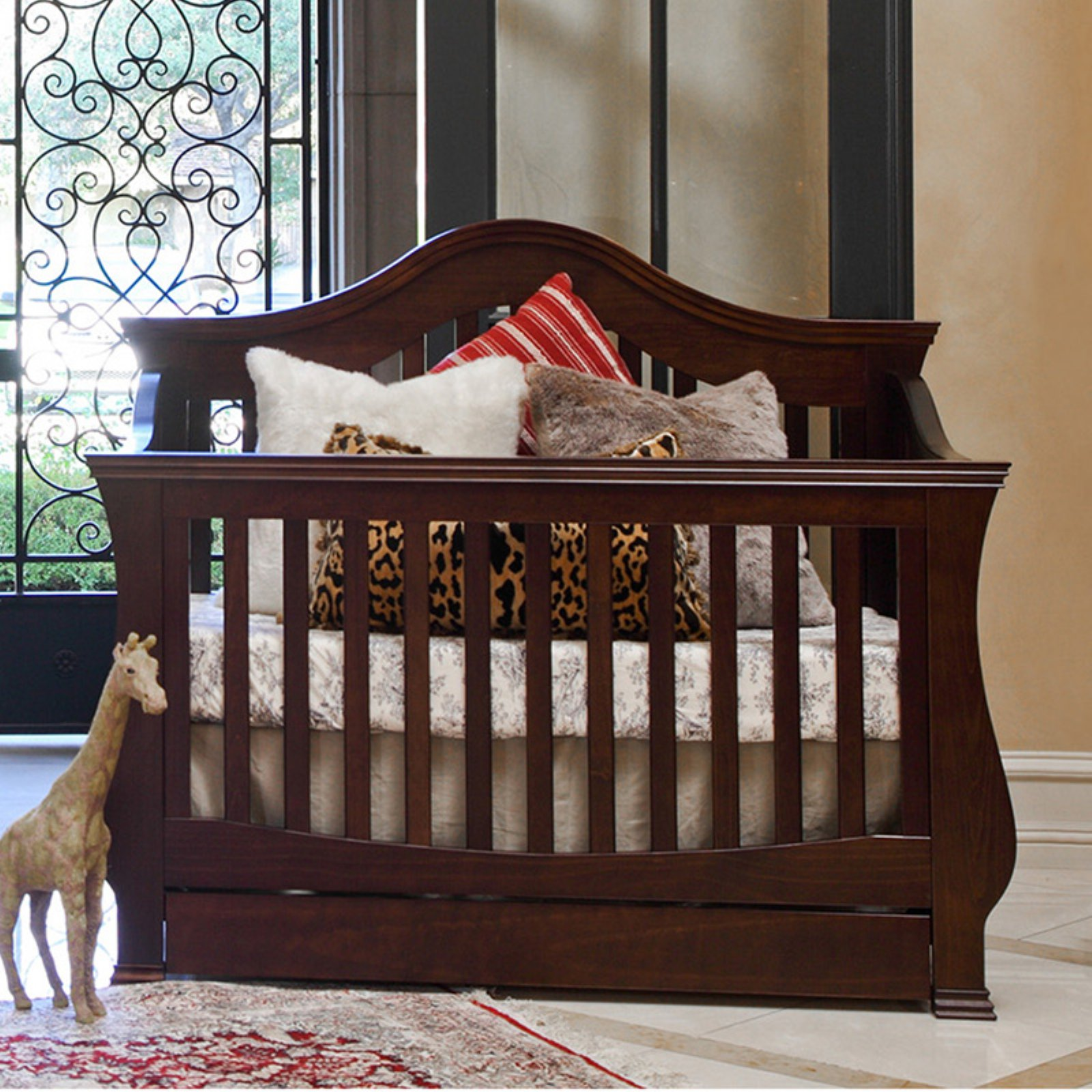 Million Dollar Baby Ashbury 4-in-1 Convertible Crib with Toddler Rail