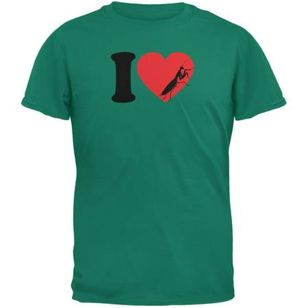 Jade Green Golf (I Heart Love Praying Mantis Jade Green Adult T-Shirt)