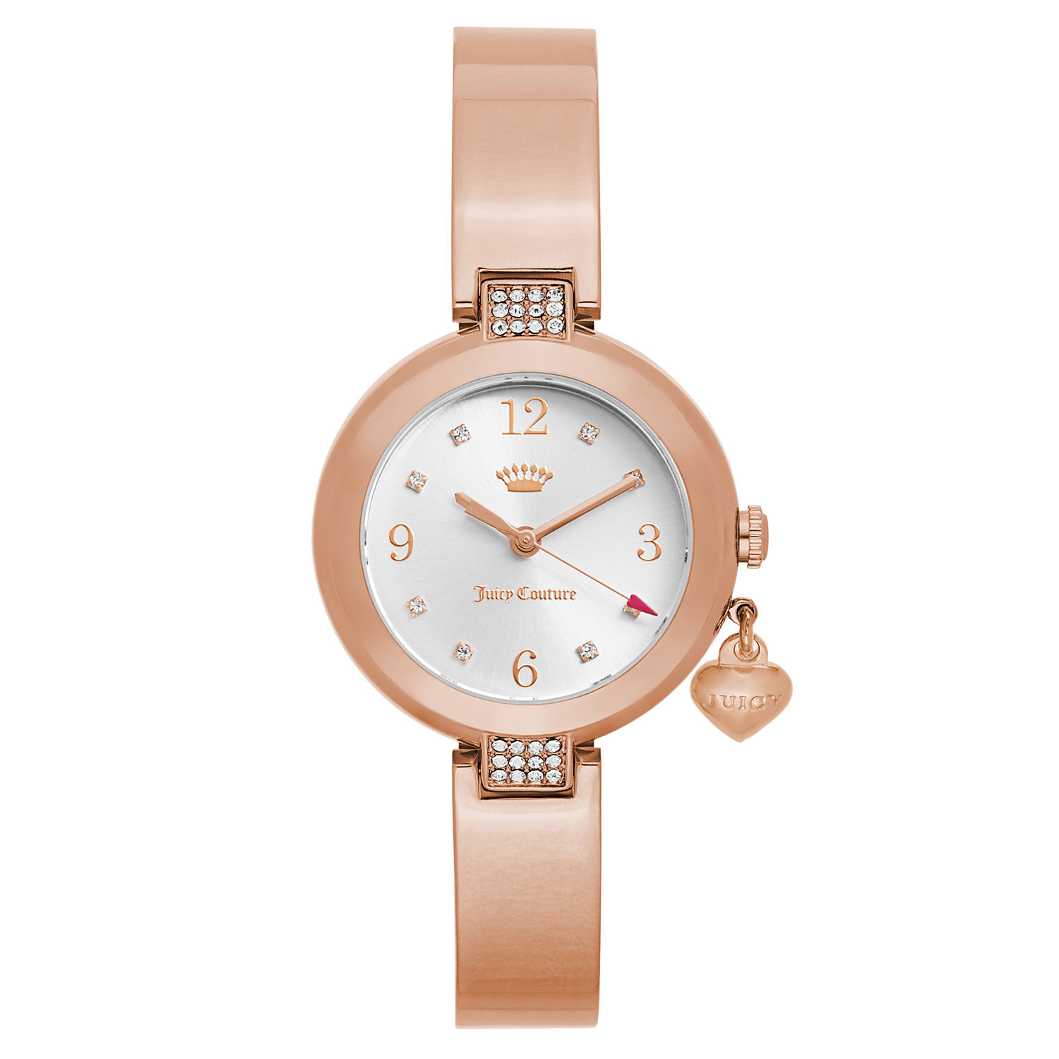 Juicy Couture  Women's 'Sienna' Gold Plated Silver Dial J...