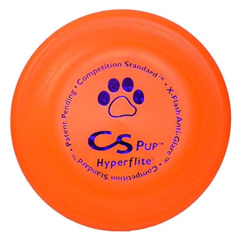 "Hyperflite K-10 Pup Competition Standard Dog Disc- Orange 7"" Diameter"