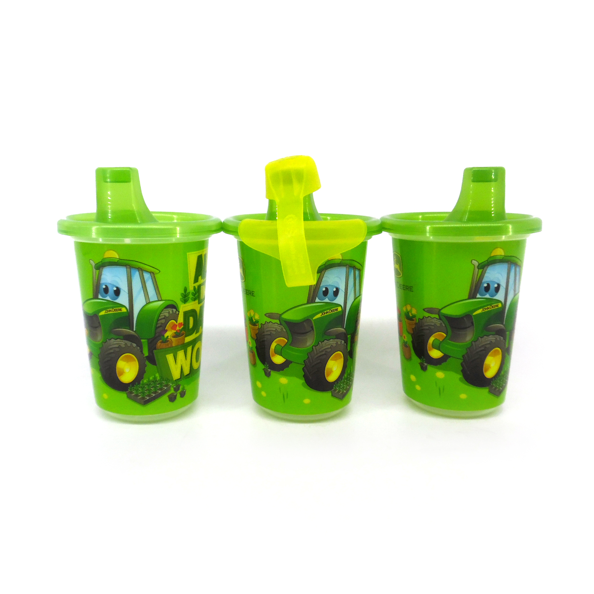 John Deere First Years 3-Pack 10 oz Take /& Toss Sippy Cup