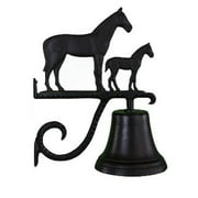 Montague Metal Products CB-1-55-SB Cast Bell With Satin Black Mare & Colt Ornament