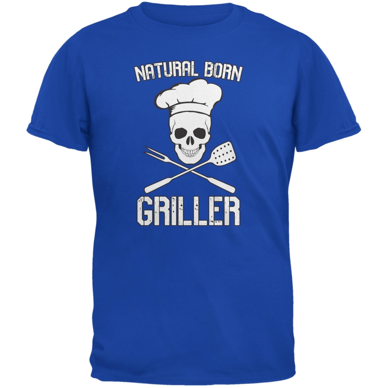 Natural Born Griller Royal Adult T-Shirt