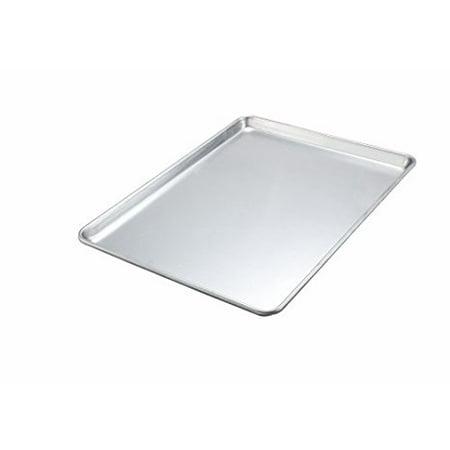 winco alxp 1813h 13 x18 1 2 size closed bead aluminum rectangular sheet pan baking tray. Black Bedroom Furniture Sets. Home Design Ideas