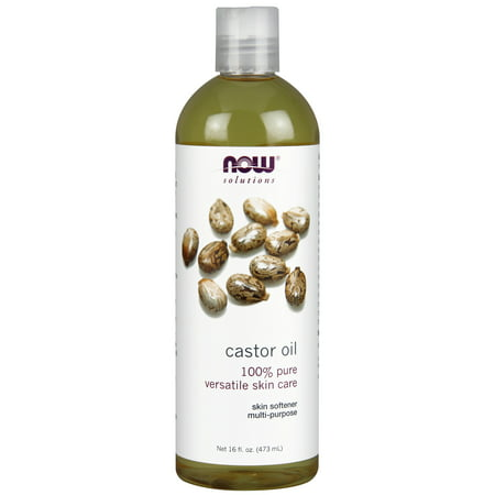 NOW Solutions Castor Oil, 16 Fl Oz (Best Castor Oil Brand For Skin)
