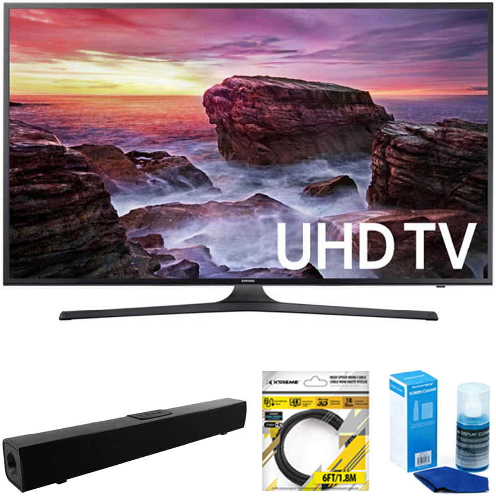 "Samsung 40"" LED 4K UHD 6 Series Smart TV 2017 Model (UN40MU6290) with Sharper IMage Bluetooth Home Theater Sound... by Samsung"