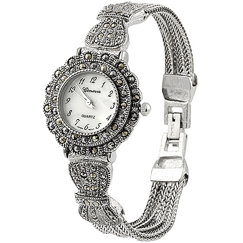 Brinley Co. Women's Marcasite Antique Watch