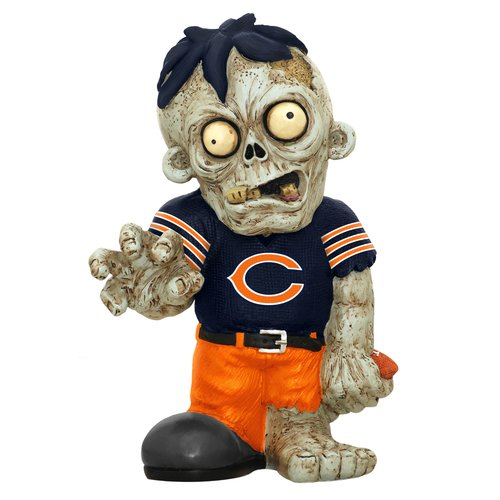 Forever Collectibles NFL Resin Zombie Figurine, Chicago Bears