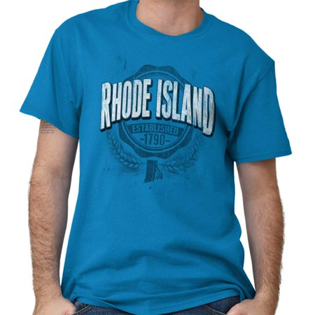 Brisco Brands State of Rhode Island Game Day Short Sleeve Adult -