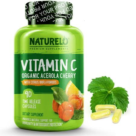 Vitamin C with Organic Acerola Cherry and Citrus Bioflavonoids - 90 Capsules Organic Vitamin C