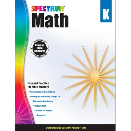 Spectrum Spectrum Math Workbook, Grade K 96 pages