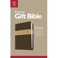 Premium Gift Bible NLT, TuTone (Red Letter, LeatherLike, Dark Brown/Tan)