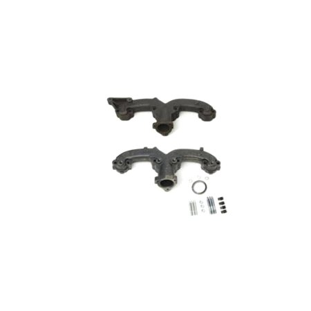 Eckler's Premier  Products 40247153 Full Size Chevy Exhaust Manifolds Rams Horn With Generator Bracket Small Block 2