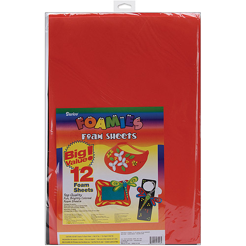 Darice Foamies Foam Sheets, 12/pkg, Basic Colors