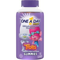 One A Day Kids (180 Count, Assorted Flavors, Trolls) Multivitamin Gummies