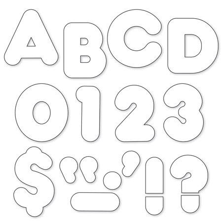 Glass White Letters (READY LETTERS 2 INCH CASUAL WHITE )